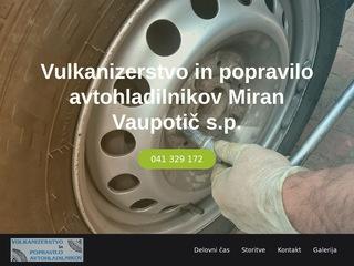 Vulkanizerstvo in popravilo avtohladilnikov Miran Vaupotič s.p.